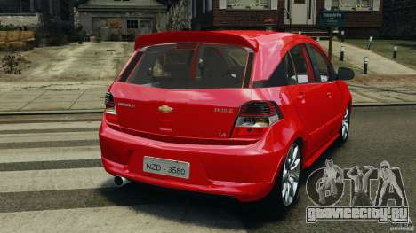 Chevrolet Agile для GTA 4 вид сзади слева