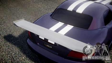 Dodge Viper RT 10 Need for Speed:Shift Tuning для GTA 4 вид изнутри