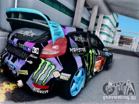Ford Fiesta Gymkhana 6 для GTA San Andreas вид справа
