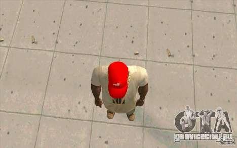 Кепка puma ярко красная для GTA San Andreas третий скриншот
