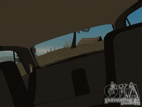 ВАЗ 2107 v 1.1 для GTA San Andreas вид сзади