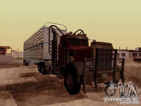 Peterbilt 359 Day Cab для GTA San Andreas вид сзади слева