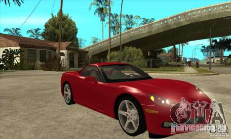 Chevrolet Corvette C6 Z51 - Stock для GTA San Andreas вид сзади