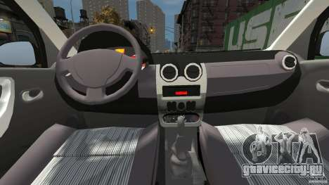 Dacia Logan Prestige Taxi для GTA 4 вид справа