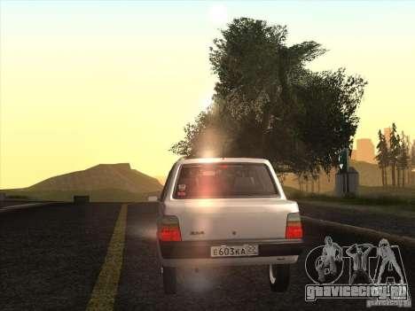 ВАЗ 1111 Ока Седан для GTA San Andreas вид изнутри
