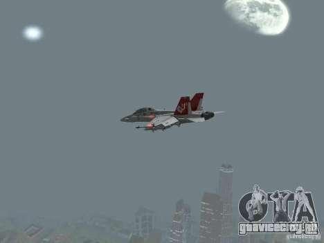 FA-18D Hornet для GTA San Andreas вид справа