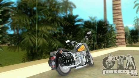 Harley Davidson FLSTF (Fat Boy) для GTA Vice City вид сзади слева
