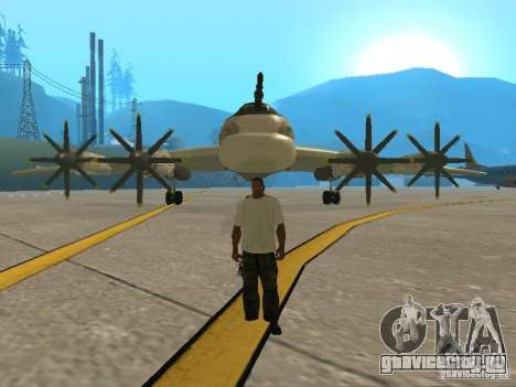 Ту-95 для GTA San Andreas вид сзади слева