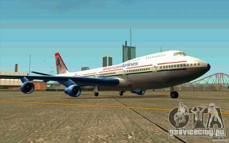 B-747 American Airlines Skin для GTA San Andreas вид слева