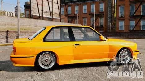 BMW M3 E30 v2.0 для GTA 4 вид слева