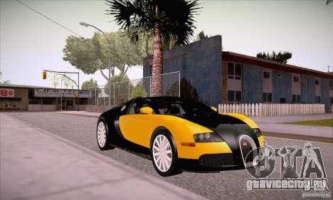 Bugatti Veyron 16.4 EB 2006 для GTA San Andreas вид сзади