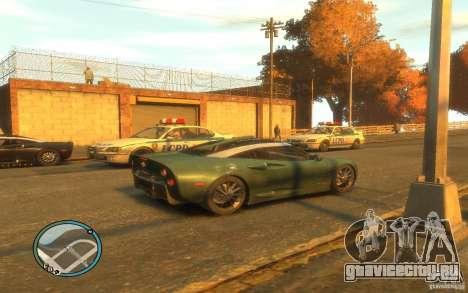 Spyker C8 Aileron для GTA 4 вид сзади