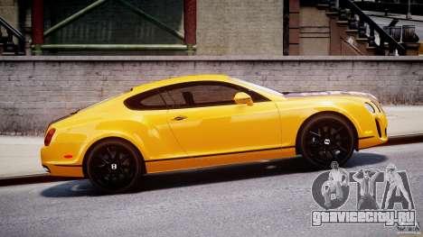 Bentley Continental SS 2010 ASI Gold [EPM] для GTA 4 вид слева
