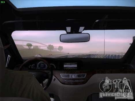 Mercedes-Benz S65 AMG V2.0 для GTA San Andreas вид сверху