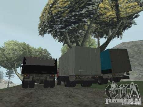 КамАЗ 5325 для GTA San Andreas вид сзади