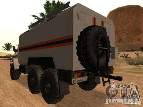 Урал 4320 МЧС для GTA San Andreas вид слева
