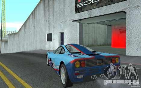 Mclaren F1 road version 1997 (v1.0.0) для GTA San Andreas вид сзади слева