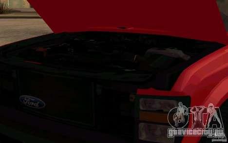 Ford F250 Super Dute для GTA San Andreas вид сзади
