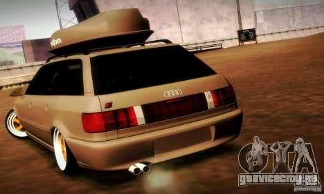 Audi RS2 Avant Thug для GTA San Andreas вид сзади
