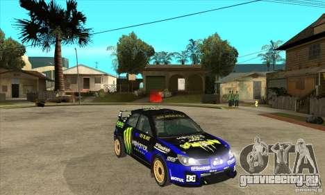 Subaru Impreza STi WRC wht2 для GTA San Andreas вид сбоку