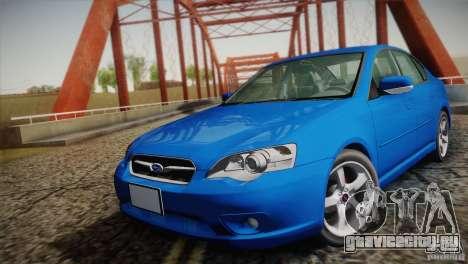 Subaru Legacy 2004 v1.0 для GTA San Andreas вид сзади