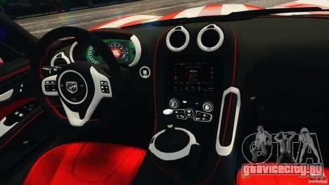 Dodge Viper GTS 2013 для GTA 4 вид сверху
