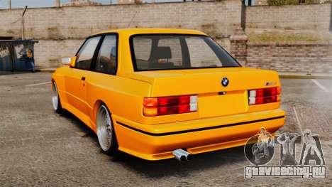BMW M3 E30 v2.0 для GTA 4 вид сзади слева