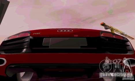 Audi R8 V10 Spyder 5.2. FSI для GTA San Andreas вид справа