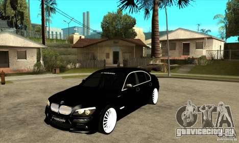 BMW 7-er F02 HAMANN 2010 для GTA San Andreas