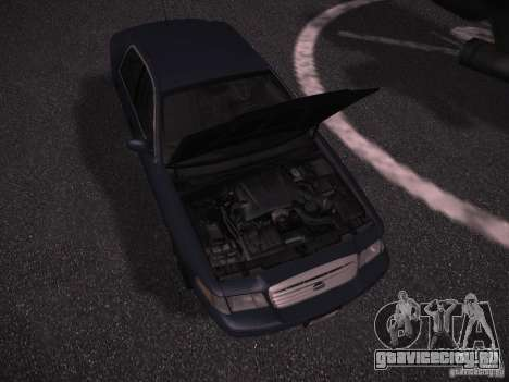 Ford Crown Victoria 2003 для GTA San Andreas вид изнутри