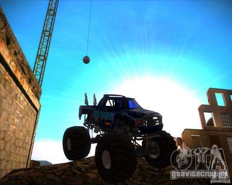Monster Truck Blue Thunder для GTA San Andreas вид сзади