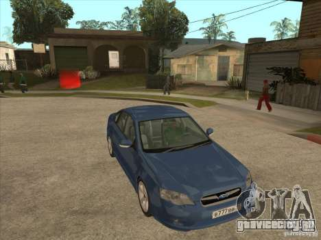 Subaru Legacy 3.0 R для GTA San Andreas вид сзади