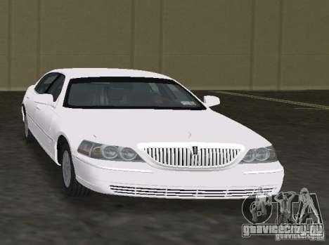 Lincoln Town Car для GTA Vice City вид сзади слева