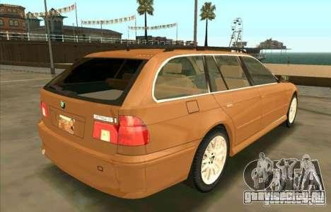 BMW 525 Touring V2 для GTA San Andreas вид сзади слева