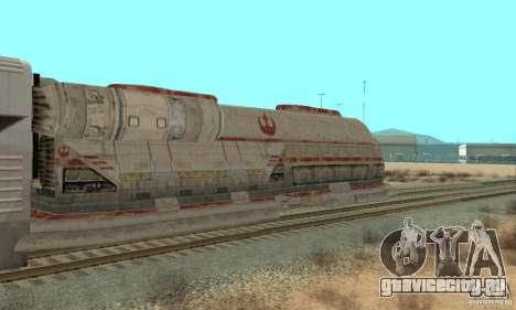 Хороший поезд Star Wars для GTA San Andreas вид сзади слева