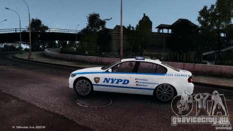 NYPD BMW 350i для GTA 4 вид слева