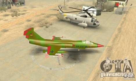 F-104 Super Starfighter(зелёного цвета) для GTA San Andreas вид справа