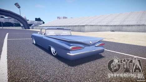 Chevrolet El Camino Custom 1959 для GTA 4 вид сзади слева