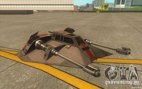 T-47 Snowspeeder для GTA San Andreas вид сверху