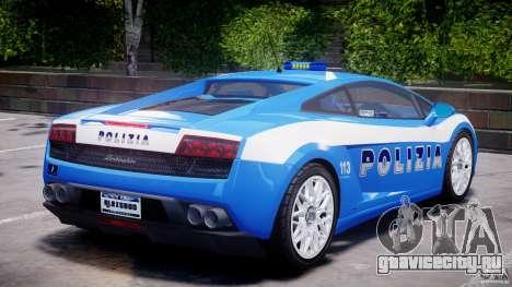 Lamborghini Gallardo LP560-4 Polizia для GTA 4 салон