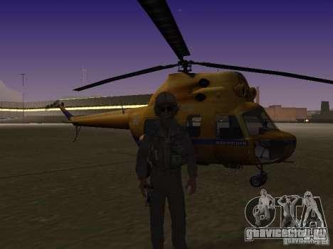 МИ-2 Милицейский для GTA San Andreas вид сзади слева