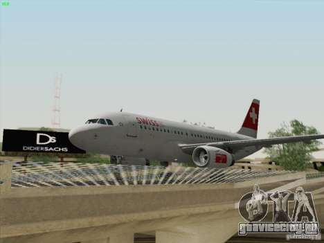 Airbus A319-112 Swiss International Air Lines для GTA San Andreas вид изнутри