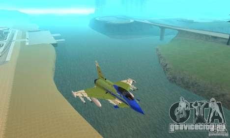 Eurofighter 2010 для GTA San Andreas вид изнутри