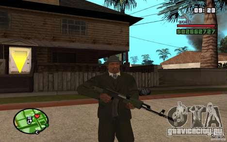 АК-47 с глушителем из GTA 5 (Final) для GTA San Andreas второй скриншот