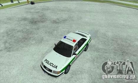 Audi 100 C4 (Cop) для GTA San Andreas вид сзади слева