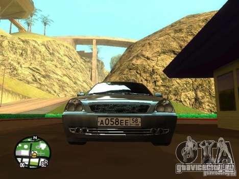 Ваз 2172 Приора для GTA San Andreas вид изнутри