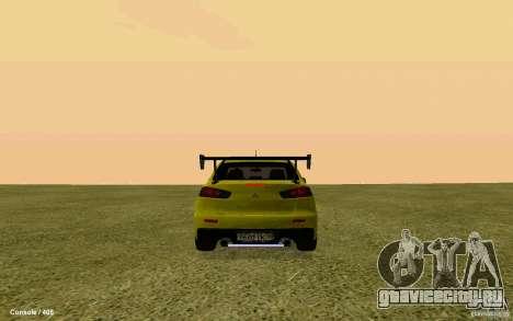 Mitsubishi Lancer Evolution Drift для GTA San Andreas вид слева