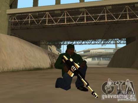 Пак золотого оружия для GTA San Andreas второй скриншот