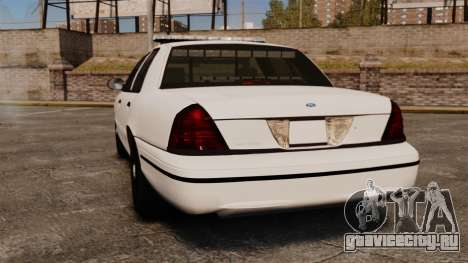 Ford Crown Victoria Unmarked ELS для GTA 4 вид сзади слева
