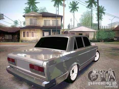 ВАЗ 2107 Criminal для GTA San Andreas вид сзади слева